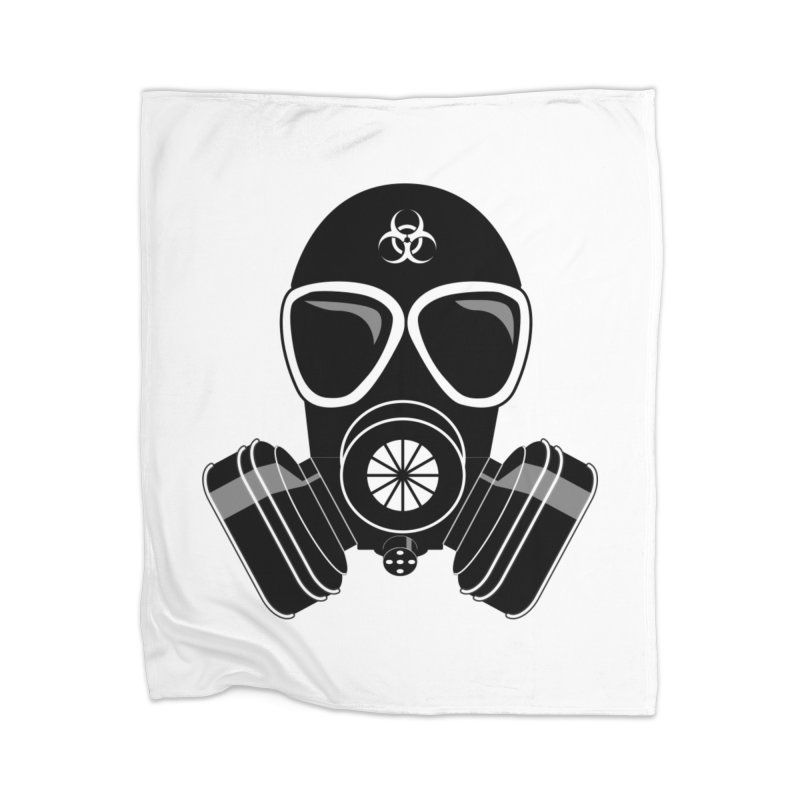 Gas Mask Home Blanket by Shirt For Brains