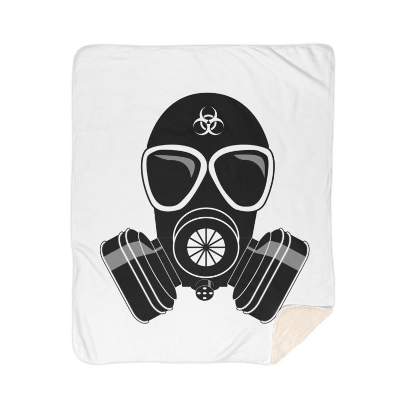 Gas Mask Home Sherpa Blanket Blanket by Shirt For Brains