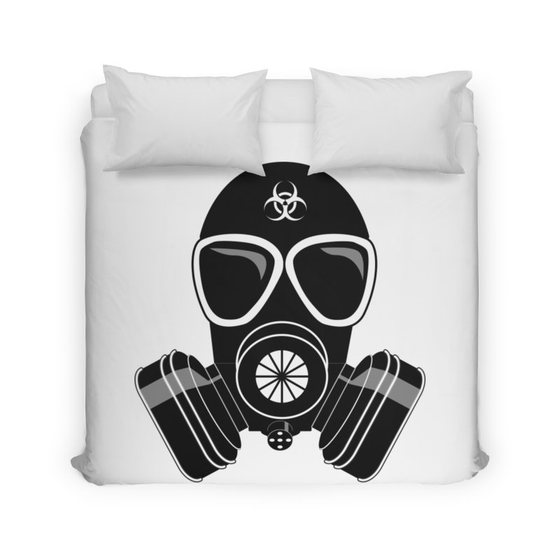 Gas Mask Home Duvet by Shirt For Brains