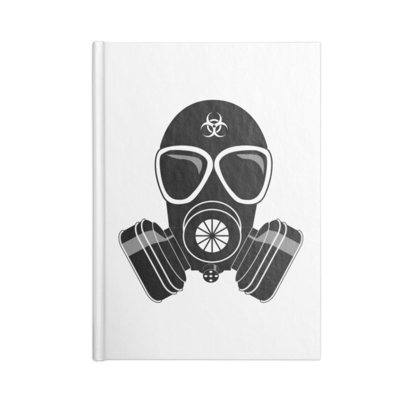 Gas Mask Accessories Lined Journal Notebook by Shirt For Brains