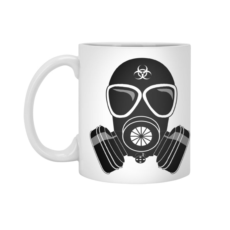 Gas Mask Accessories Standard Mug by Shirt For Brains