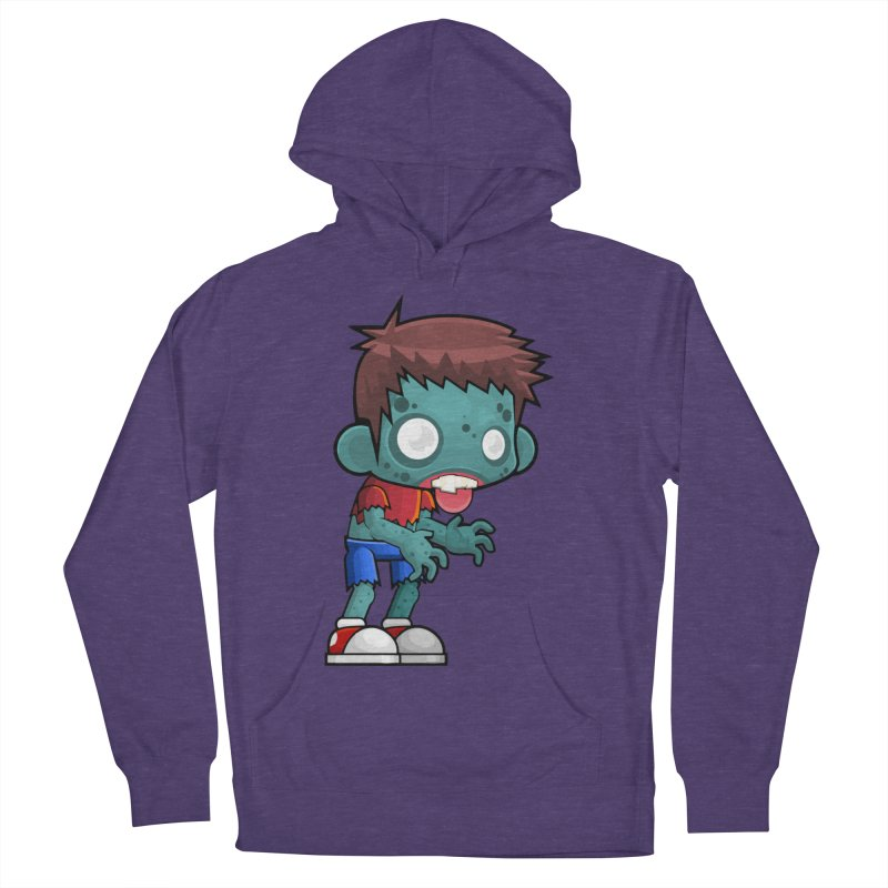 Zombie Boy Women's French Terry Pullover Hoody by Shirt For Brains