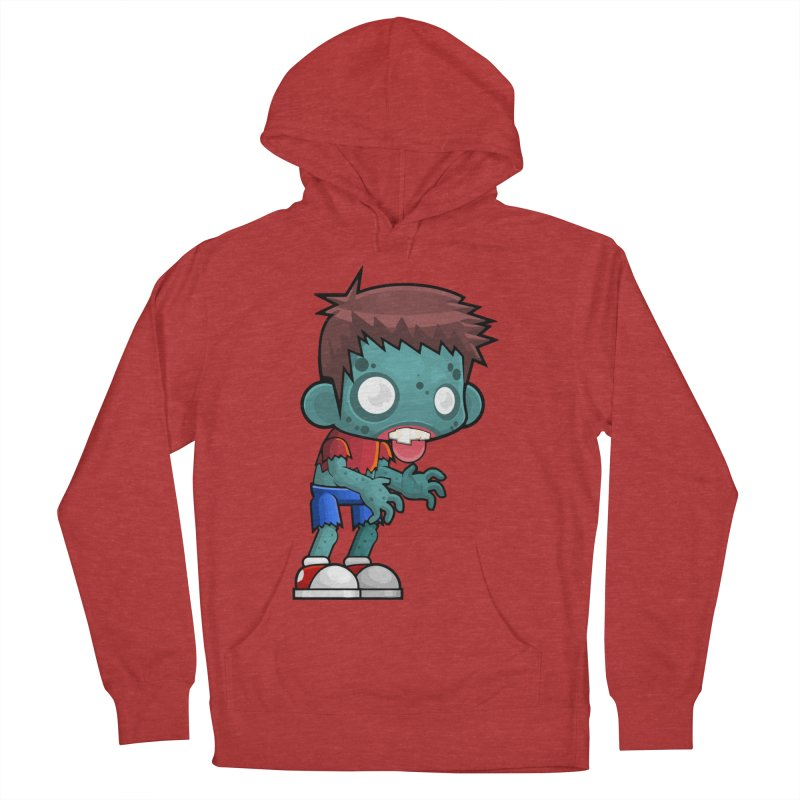 Zombie Boy Men's French Terry Pullover Hoody by Shirt For Brains