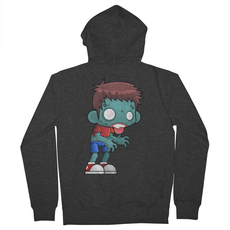 Zombie Boy Women's French Terry Zip-Up Hoody by Shirt For Brains