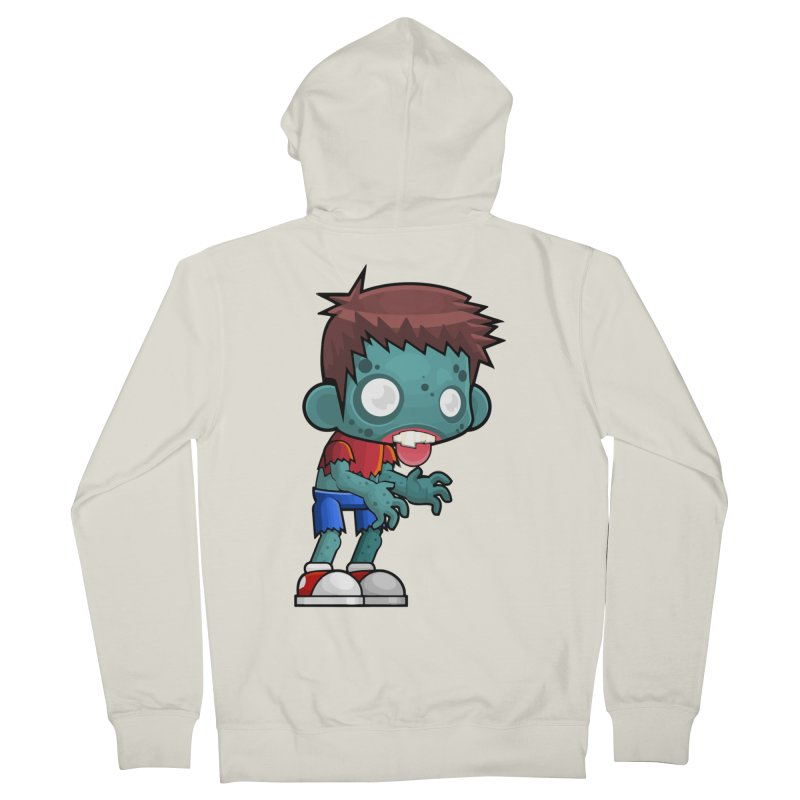 Zombie Boy Men's French Terry Zip-Up Hoody by Shirt For Brains