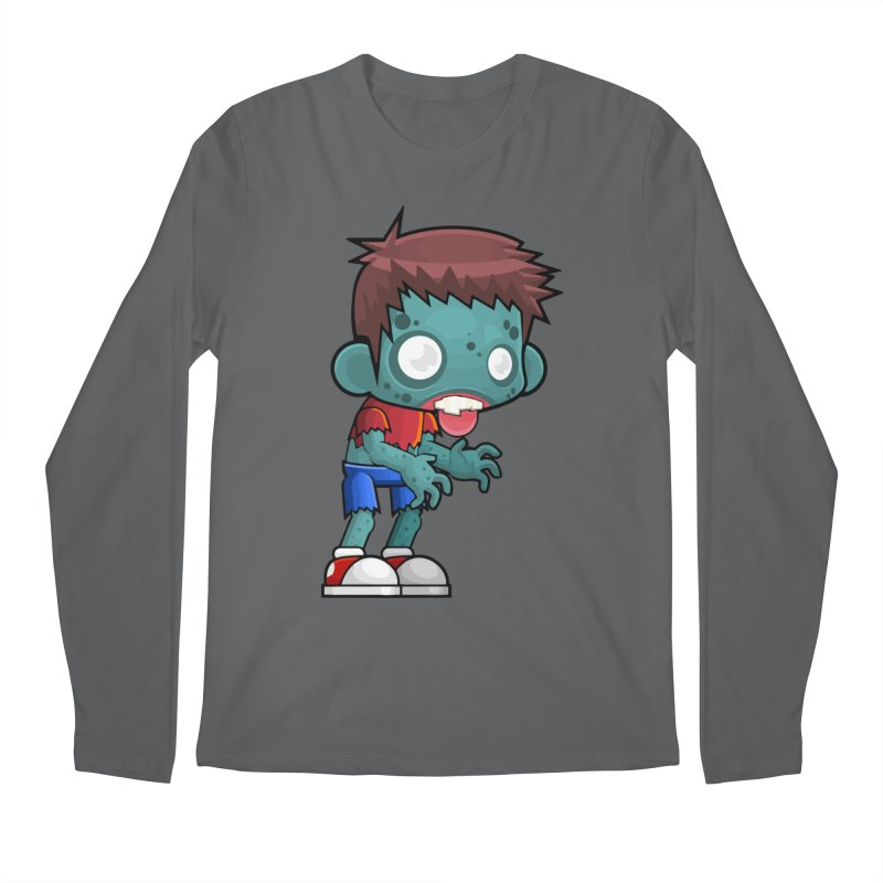 Zombie Boy Men's Longsleeve T-Shirt by Shirt For Brains