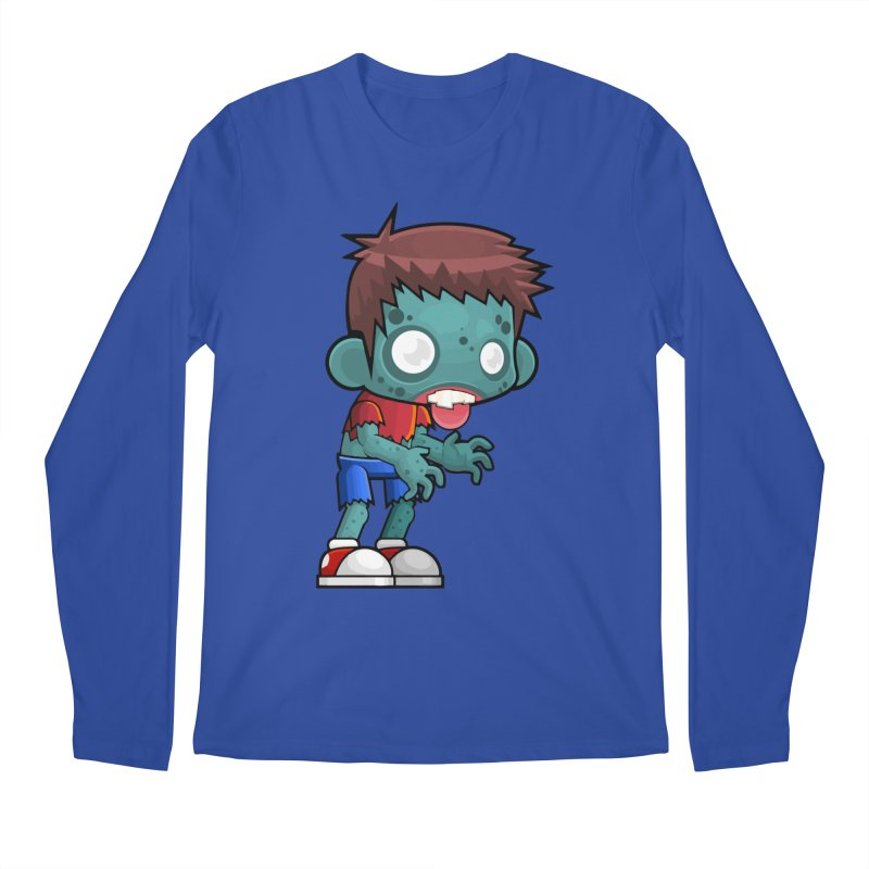 Zombie Boy Men's Regular Longsleeve T-Shirt by Shirt For Brains
