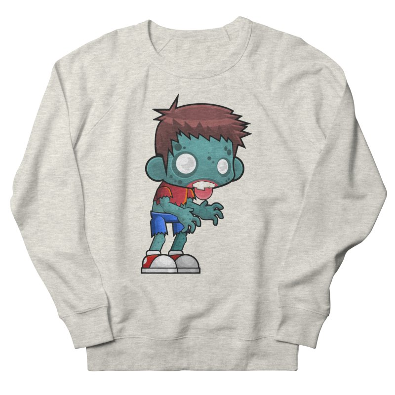 Zombie Boy Men's French Terry Sweatshirt by Shirt For Brains