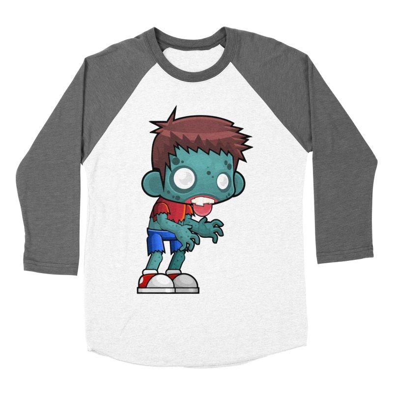 Zombie Boy Women's Baseball Triblend Longsleeve T-Shirt by Shirt For Brains