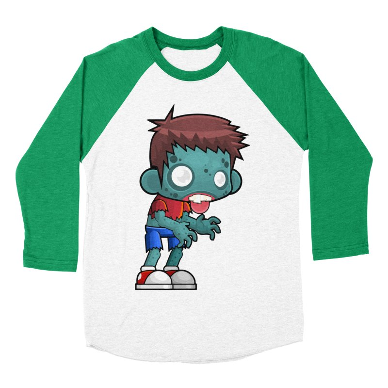 Zombie Boy Women's Baseball Triblend Longsleeve T-Shirt by Shirt For Brains