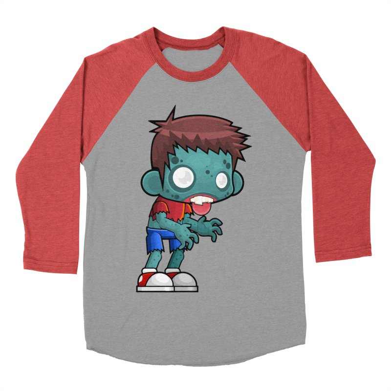 Zombie Boy Men's Baseball Triblend Longsleeve T-Shirt by Shirt For Brains