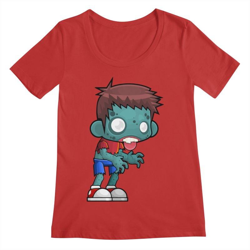 Zombie Boy Women's Regular Scoop Neck by Shirt For Brains