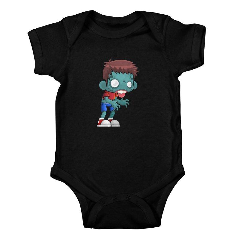Zombie Boy Kids Baby Bodysuit by Shirt For Brains