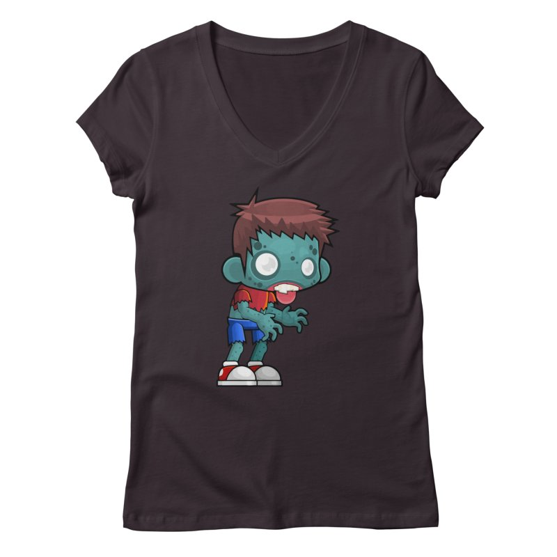 Zombie Boy Women's V-Neck by Shirt For Brains