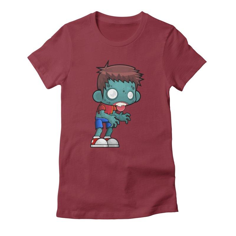 Zombie Boy Women's T-Shirt by Shirt For Brains
