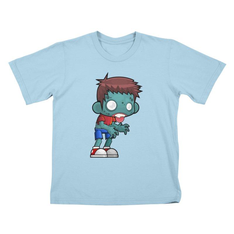 Zombie Boy Kids T-Shirt by Shirt For Brains