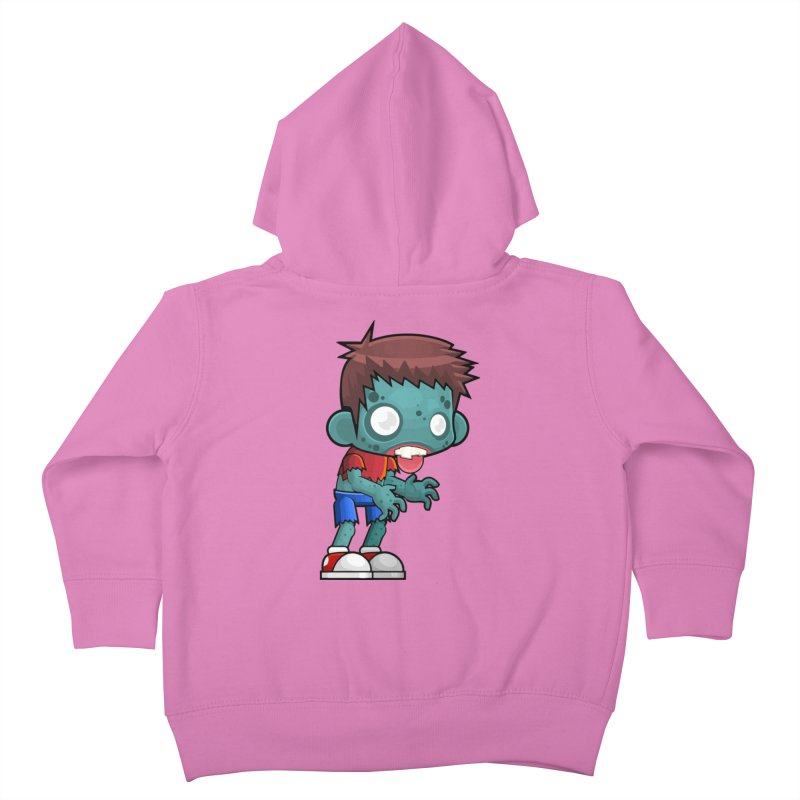 Zombie Boy Kids Toddler Zip-Up Hoody by Shirt For Brains