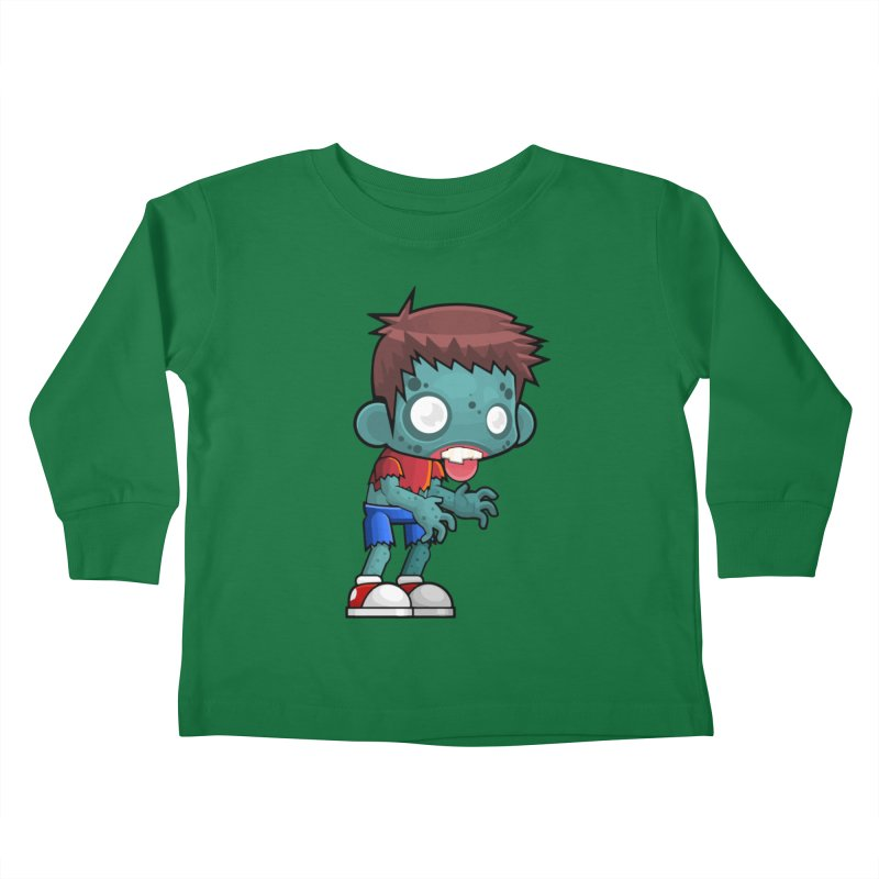Zombie Boy Kids Toddler Longsleeve T-Shirt by Shirt For Brains