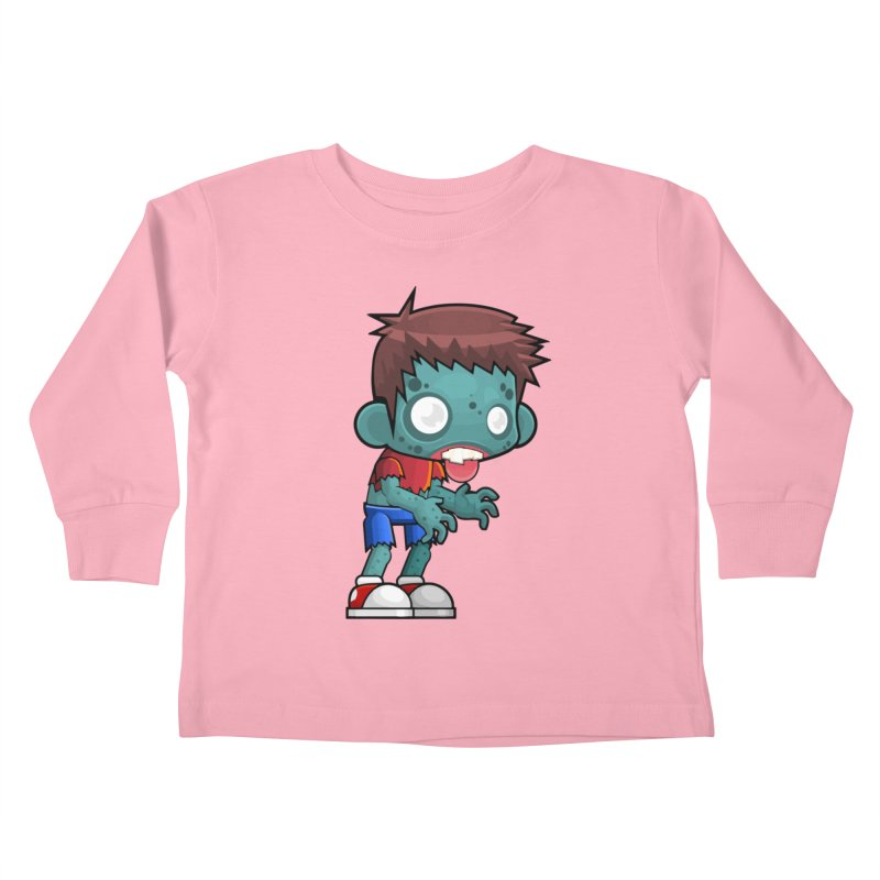 Zombie Boy Kids Toddler Longsleeve T-Shirt by Shirt For Brains
