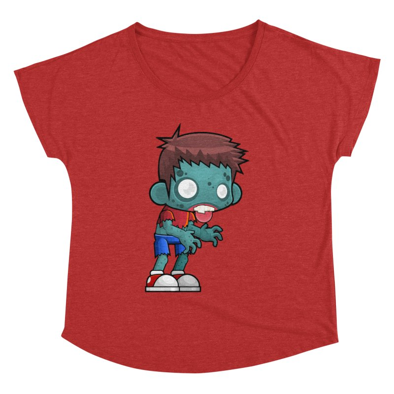 Zombie Boy Women's Dolman Scoop Neck by Shirt For Brains