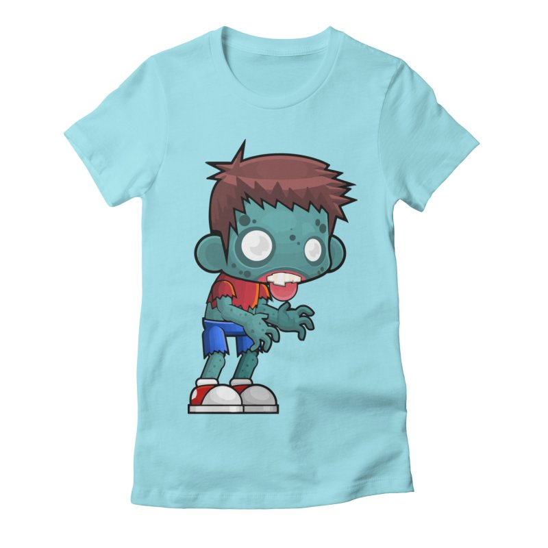 Zombie Boy Women's Fitted T-Shirt by Shirt For Brains