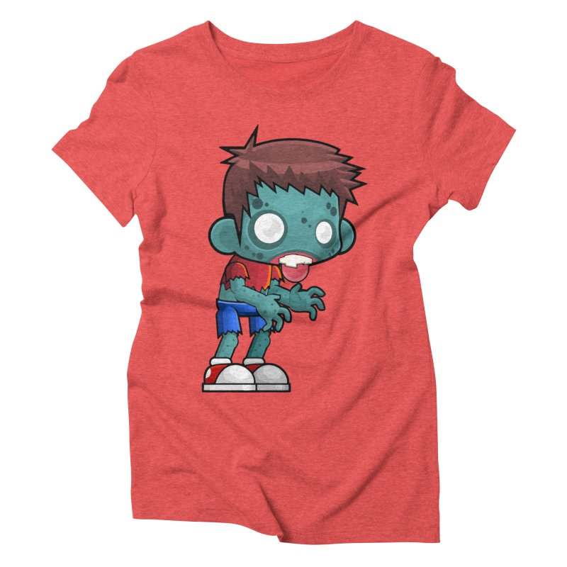 Zombie Boy Women's Triblend T-Shirt by Shirt For Brains