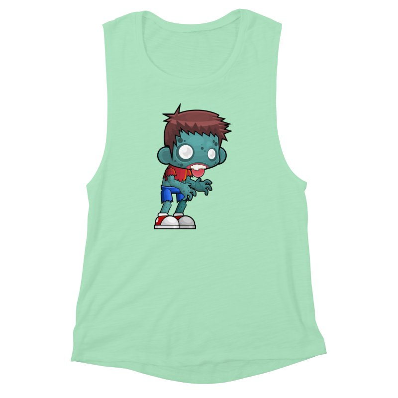 Zombie Boy Women's Muscle Tank by Shirt For Brains