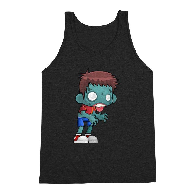 Zombie Boy Men's Triblend Tank by Shirt For Brains
