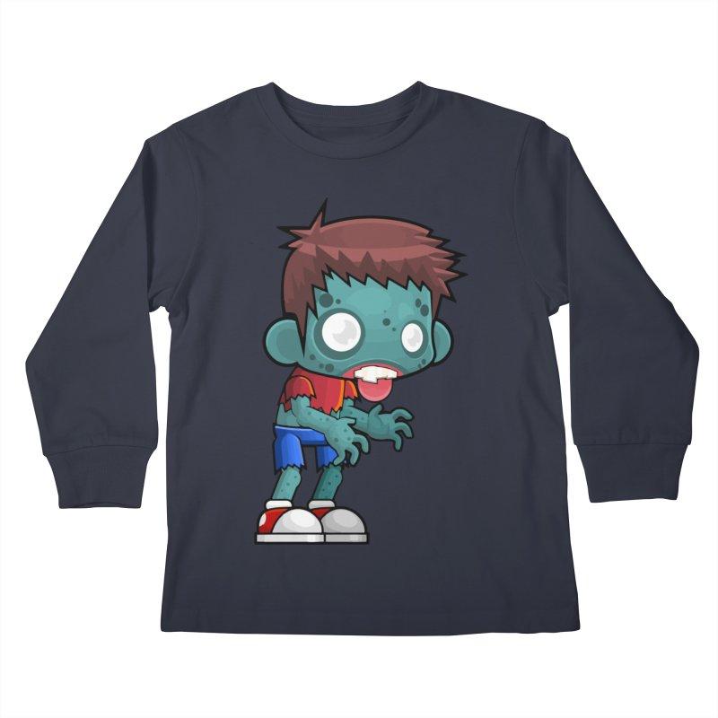 Zombie Boy Kids Longsleeve T-Shirt by Shirt For Brains