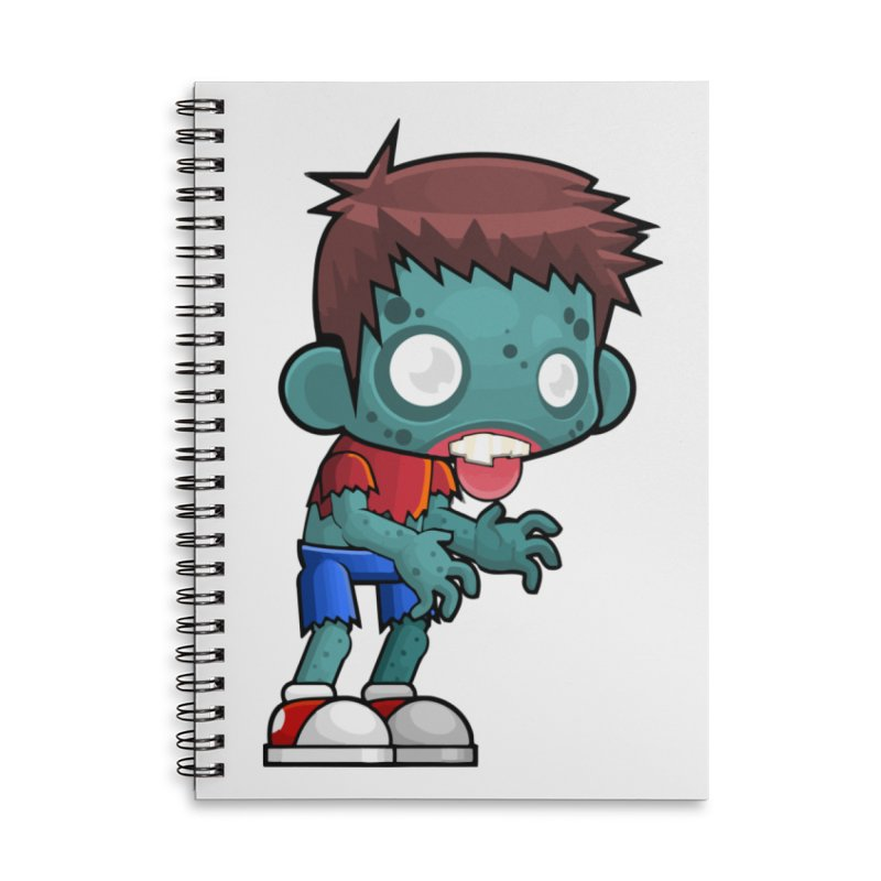 Zombie Boy Accessories Lined Spiral Notebook by Shirt For Brains