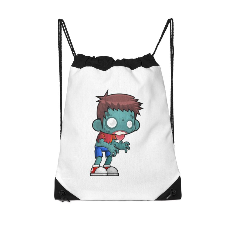 Zombie Boy Accessories Drawstring Bag Bag by Shirt For Brains