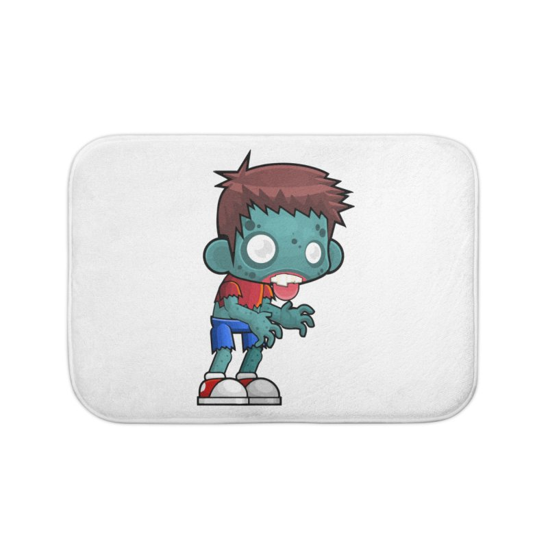 Zombie Boy Home Bath Mat by Shirt For Brains