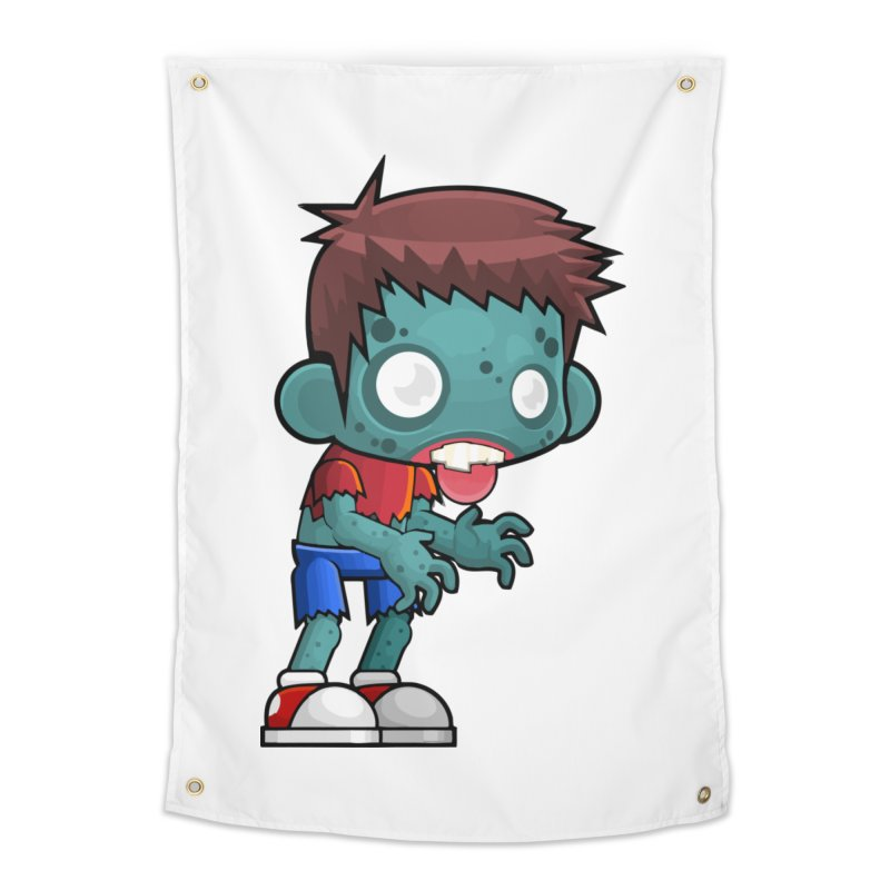 Zombie Boy Home Tapestry by Shirt For Brains