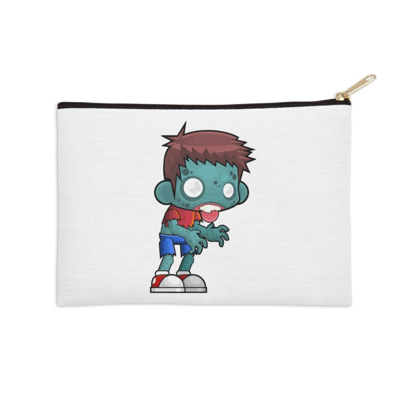 Zombie Boy Accessories Zip Pouch by Shirt For Brains