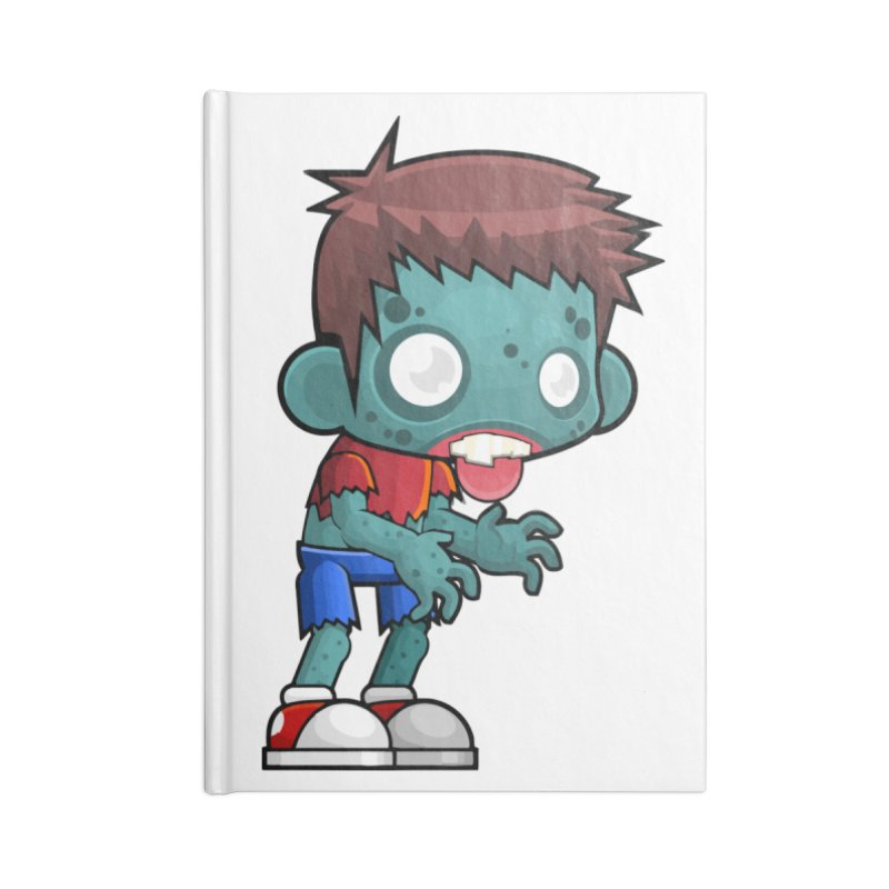 Zombie Boy Accessories Lined Journal Notebook by Shirt For Brains