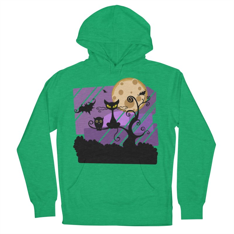Halloween Night Women's French Terry Pullover Hoody by Shirt For Brains