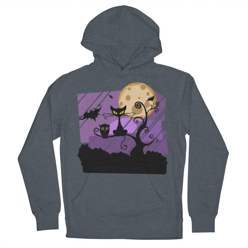 Halloween Night Men's French Terry Pullover Hoody by Shirt For Brains