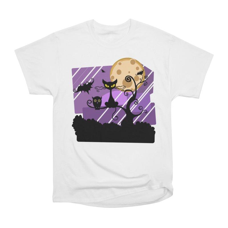 Halloween Night Women's Heavyweight Unisex T-Shirt by Shirt For Brains