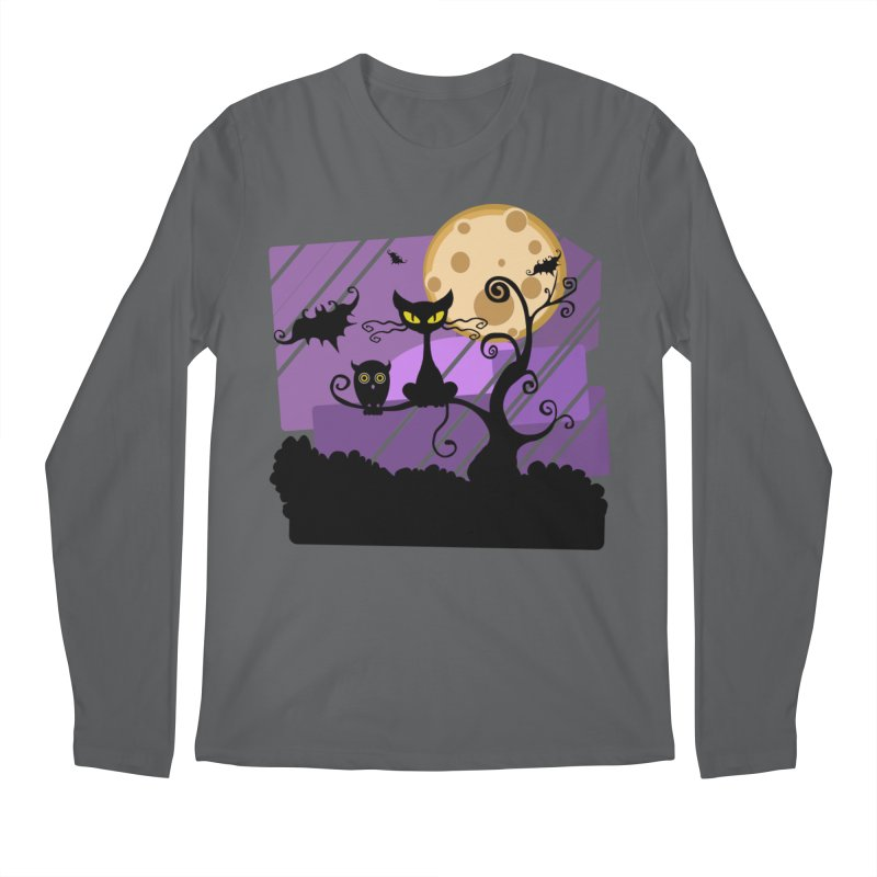 Halloween Night Men's Longsleeve T-Shirt by Shirt For Brains