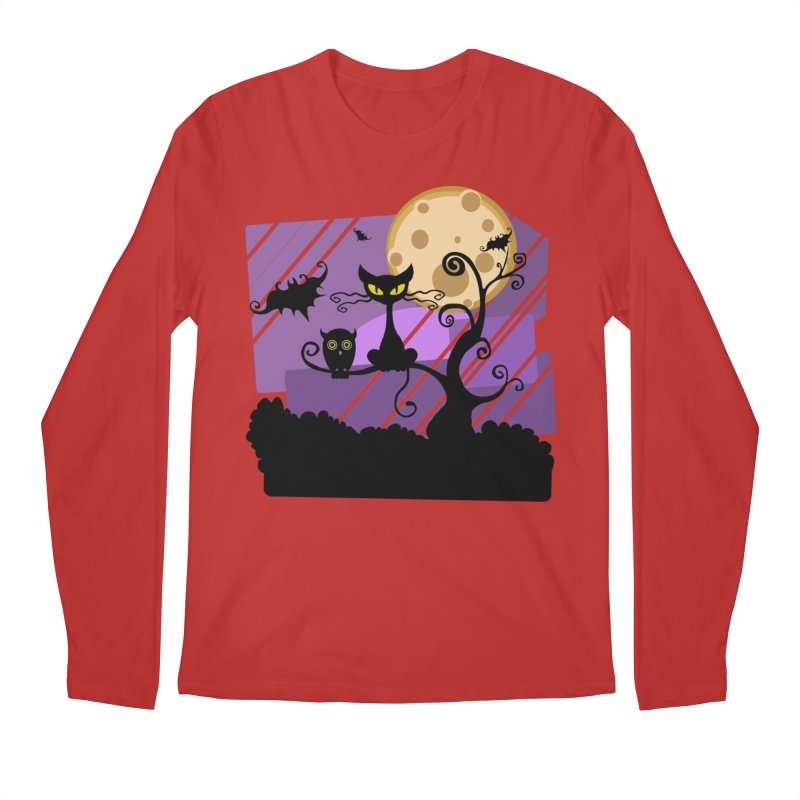 Halloween Night Men's Regular Longsleeve T-Shirt by Shirt For Brains