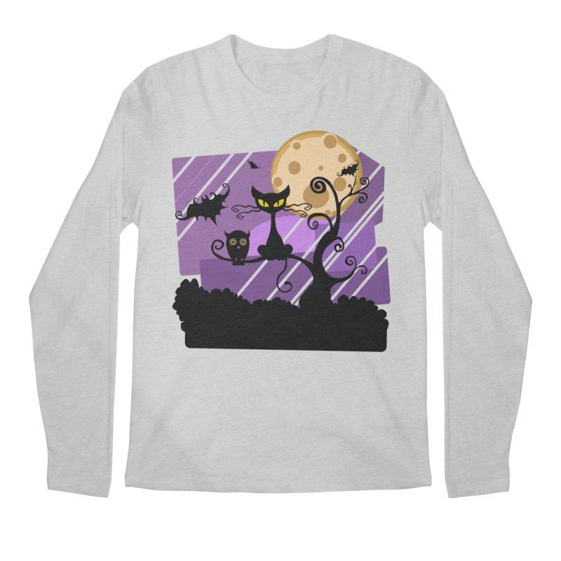 Halloween Night Men's Regular Longsleeve T-Shirt by Shirt For Brains