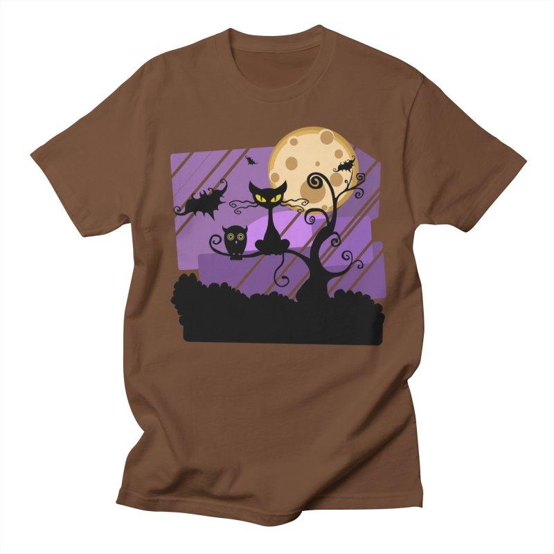 Halloween Night Men's Regular T-Shirt by Shirt For Brains