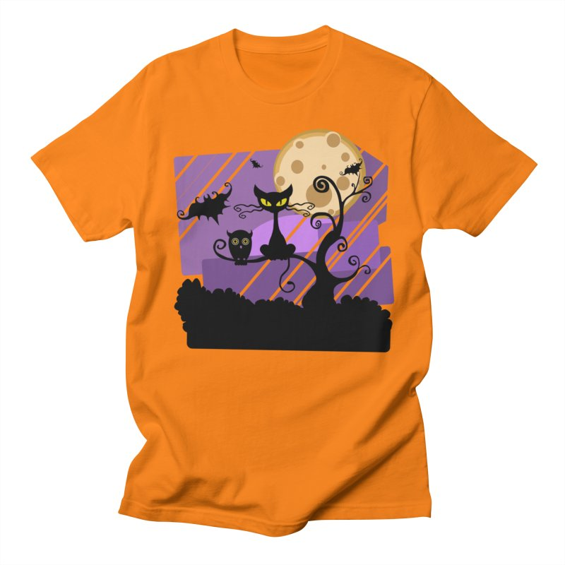Halloween Night Men's T-Shirt by Shirt For Brains