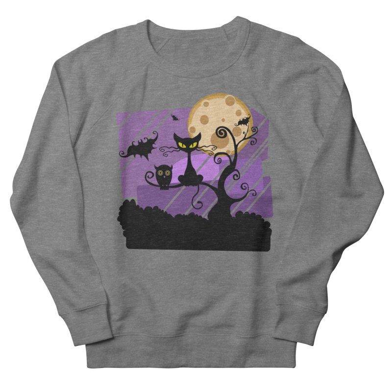 Halloween Night Women's French Terry Sweatshirt by Shirt For Brains