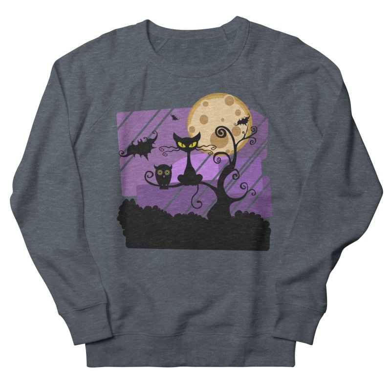 Halloween Night Men's French Terry Sweatshirt by Shirt For Brains