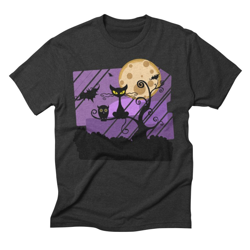 Halloween Night Men's Triblend T-Shirt by Shirt For Brains
