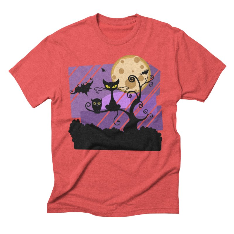 Halloween Night Men's Triblend T-Shirt by Shirt For Brains
