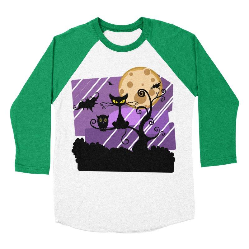 Halloween Night Women's Baseball Triblend Longsleeve T-Shirt by Shirt For Brains