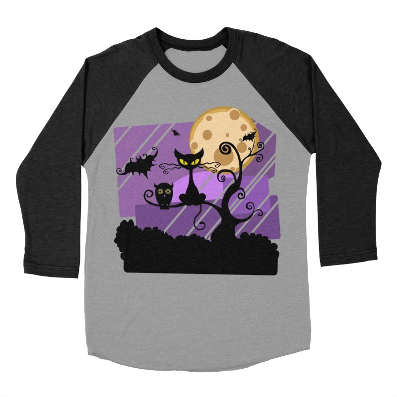 Halloween Night Women's Baseball Triblend Longsleeve T-Shirt by Shirt For Brains