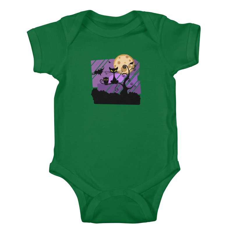 Halloween Night Kids Baby Bodysuit by Shirt For Brains
